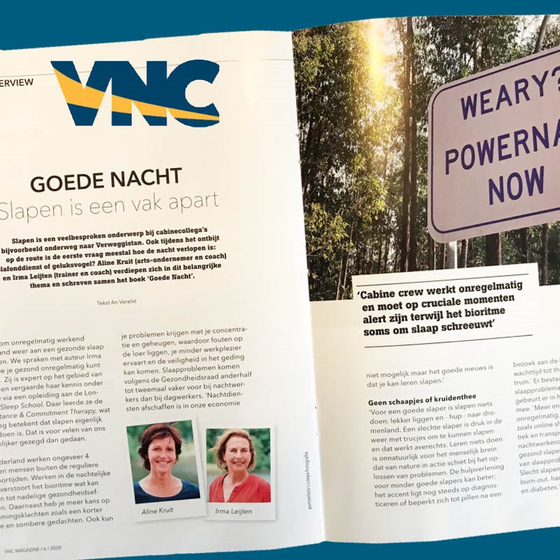 Artikel Goede Nacht in VNC Magazine